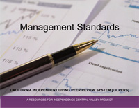 Thumbnail graphic of front cover to the Management Standards booklet.